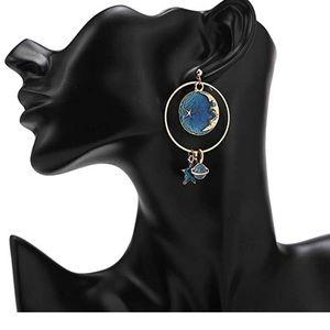 Jewelry - Moon Star Earth Planet Earrings